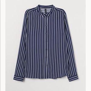 H&M Stripe Viscose Shirt